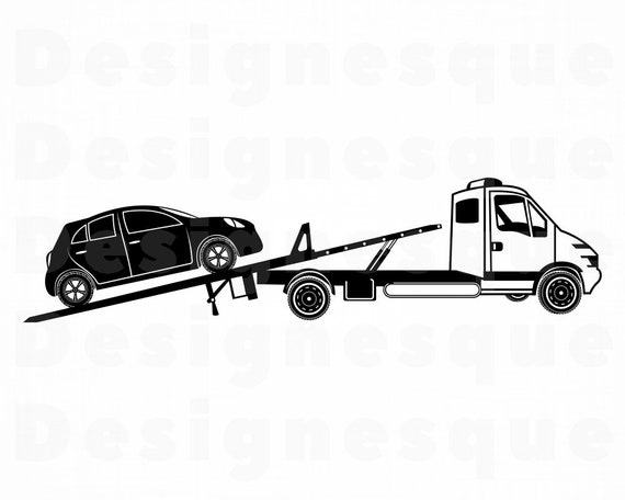 Tow Truck 4 Svg Tow Truck Svg Tow Truck Clipart Tow Truck Etsy