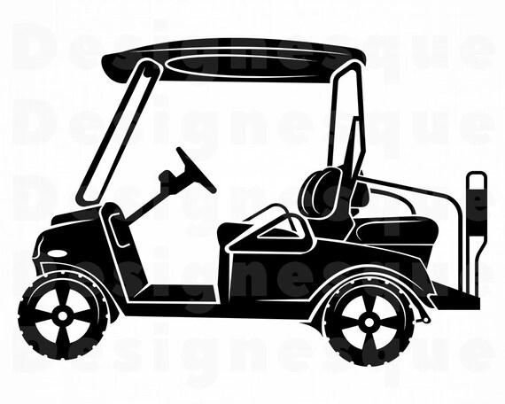 Download Golf Cart SVG Golf Cart Clipart Golf Cart Files for Cricut ...