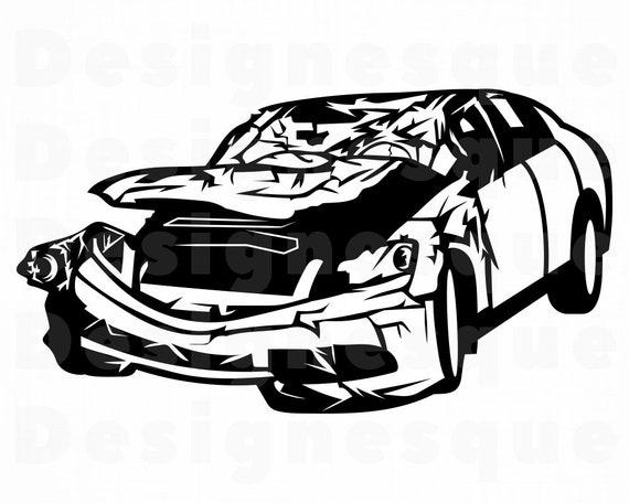 Clipart - Car Accident Clipart - Free Transparent PNG Clipart Images  Download