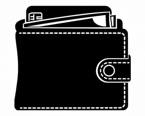 Wallet SVG Money Svg Wallet Clipart Wallet Files for   Etsy