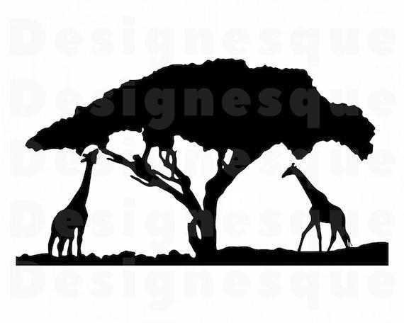 Safari 2 Svg Giraffe Svg Safari Clipart Safari Files For Etsy