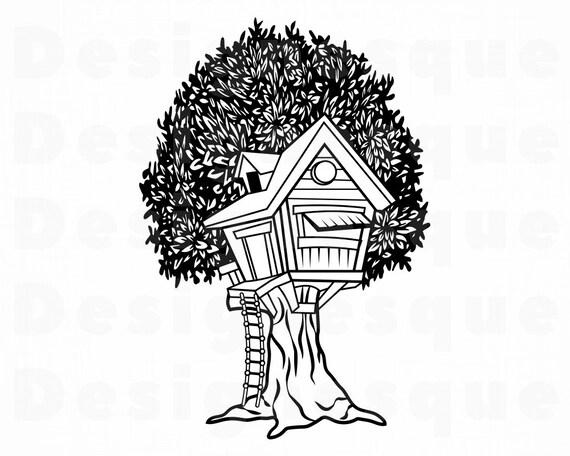 Tree House 2 Svg Tree House Svg Treehouse Svg Tree House Etsy