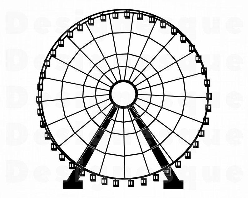 Ferris Wheel SVG, Ferris Wheel Clipart, Ferris Wheel Files for Cricut,  Ferris Wheel Cut Files For Silhouette, Dxf, Png, Eps, Vector