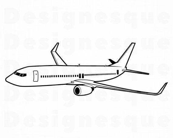 Airplane Outline Svg 2 Airplane Svg Aircraft Svg Airplane Etsy