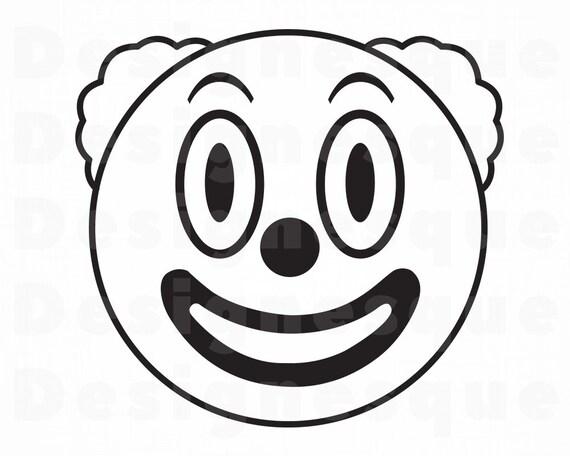 Clown 6 Svg Clown Svg Jester Joker Clown Clipart Clown Etsy