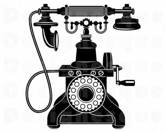 Retro Phone Svg Phone Svg Rotary Phone Svg Phone Clipart Etsy