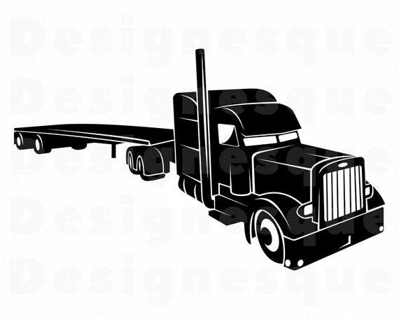 Semi Truck Vector Files Semi Truck Dxf Files Semi Truck Cricut Cut Files Semi Truck Cricut Cut File