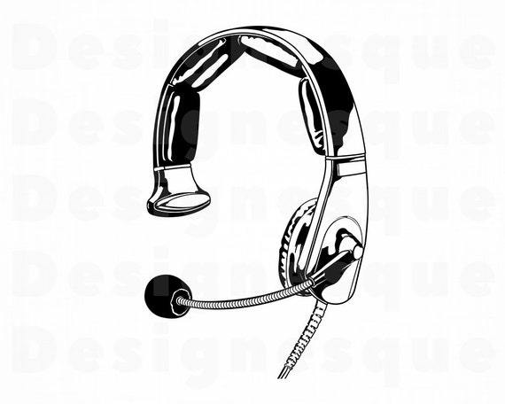 Microphone Svg Headset Mic SVG Headset Mic Cut Files /& EPS PNG Headset Svg Video Call Svg Mic Svg Headphones Svg Headset Clipart