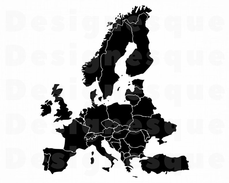 Europe SVG, Europe Map SVG, Europe Clipart, Europe Files for Cricut, on europe map art, europe map print, europe map pdf, europe map design, europe map psd, europe map google, europe map animation,