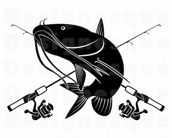 Download Catfish Fishing 2 Svg Fishing Logo Svg Fish Svg Fishing Etsy