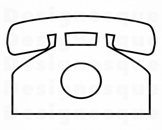 Phone Outline Svg Phone Svg Phone Outline Clipart Phone