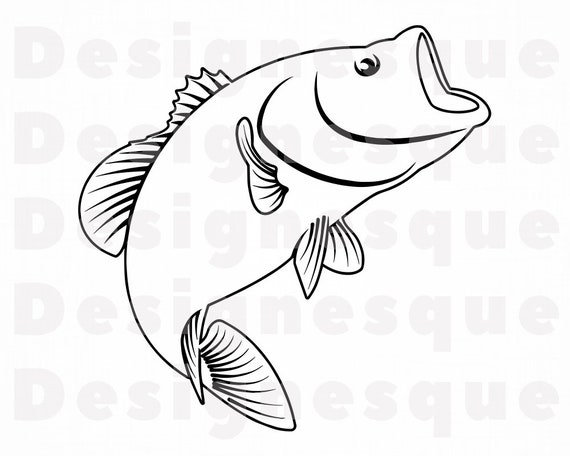 Download Fishing Outline Svg Fishing Svg Fish Svg Fishing Clipart Etsy
