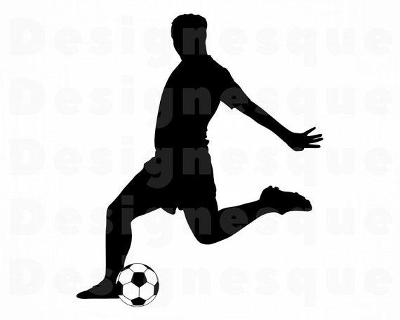 Fussball Spieler 3 Svg Fussball Svg Fussball Spieler Clipart Fussball Dateien Fur Cricut Fussball Schneiden Dateien Fur Silhouette Fussball Dxf Png