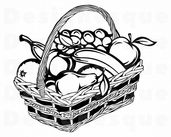 Free Black And White Fruit Bowl, Download Free Clip Art, Free Clip Art on  Clipart Library