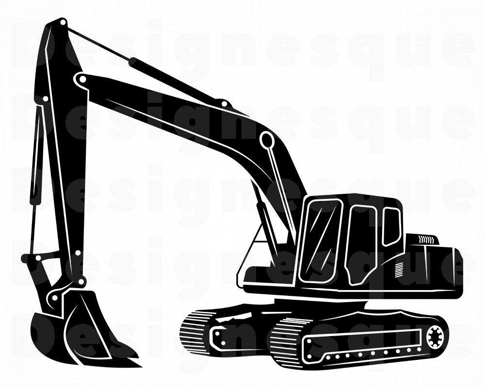 Excavator SVG   Etsy
