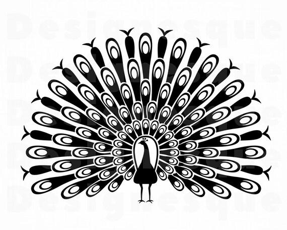 Peacock 3 Svg Peacock Svg Peafowl Svg Peacock Clipart Etsy