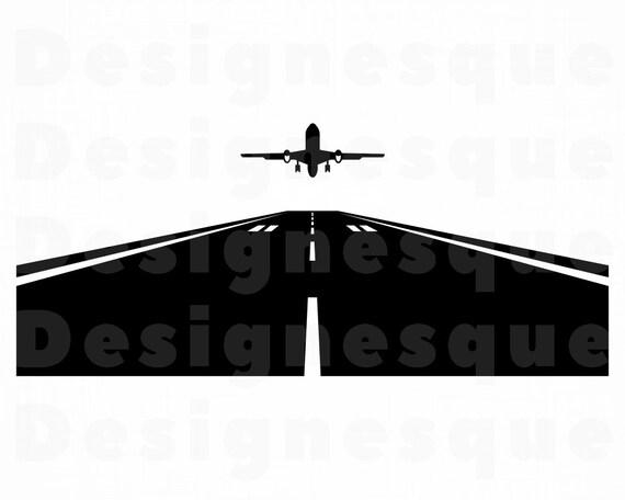 Airplane Takeoff Svg Airplane Runway Svg Airplane Takeoff Etsy
