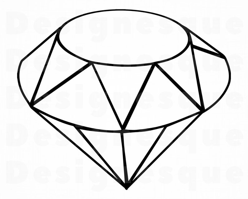 Diamond Outline Svg Diamond Svg Diamond Outline Clipart
