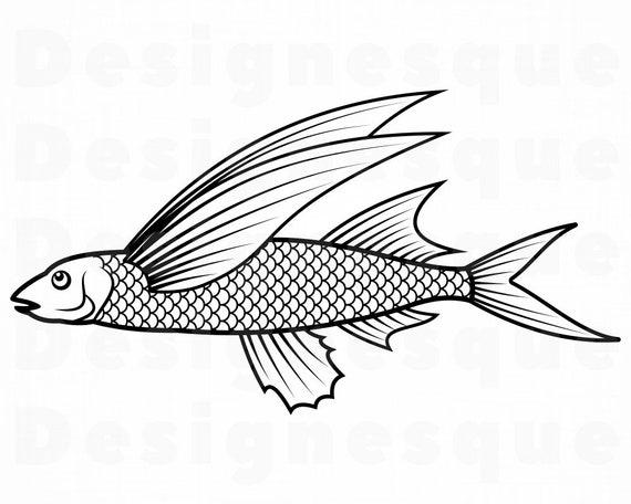Download Flying Fish Svg Exocoetidae Svg Fishing Svg Fish Svg Etsy