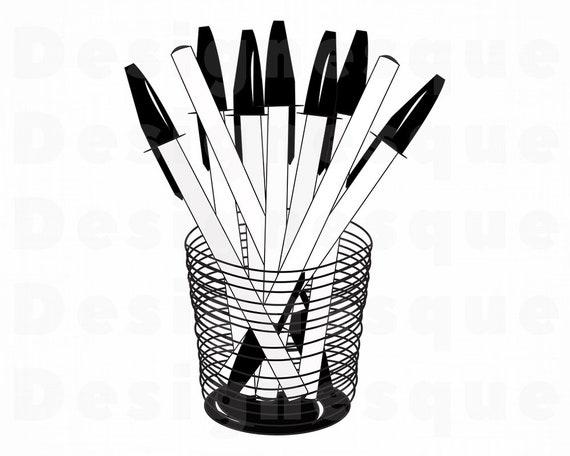 Cup With Pens Svg Pen Svg School Supplies Svg Pen Clipart Etsy
