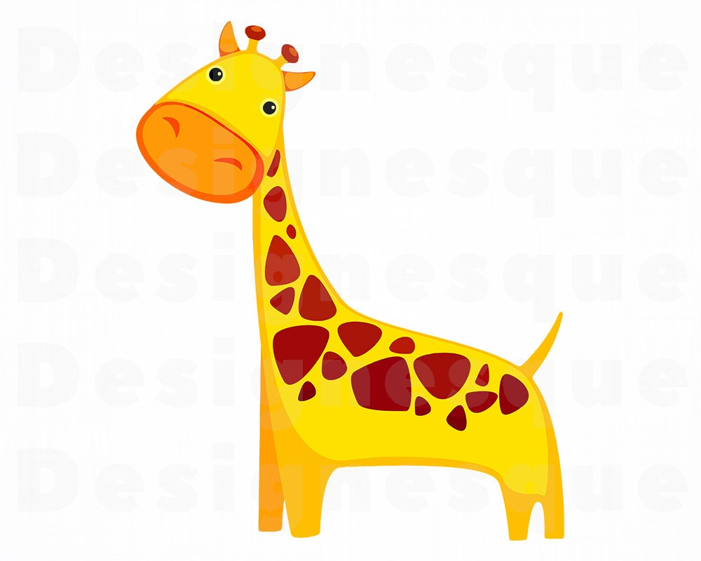 Cute Giraffe SVG Cute Giraffe Clipart Cute Giraffe Files ...