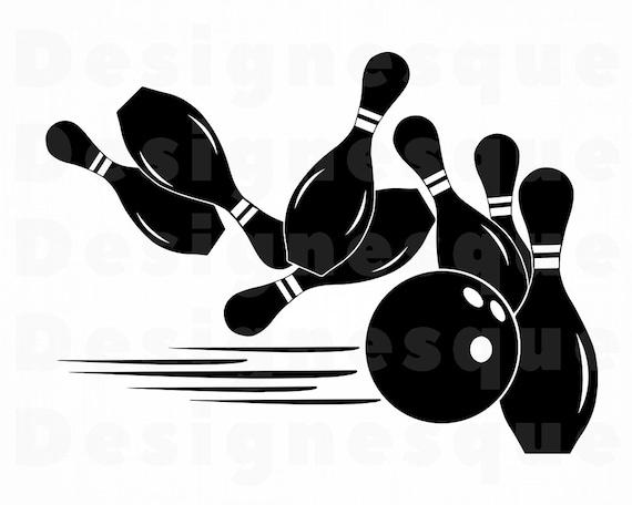 Bowling Logo 2 Svg Bowling Svg Bowling Clipart Bowling Etsy