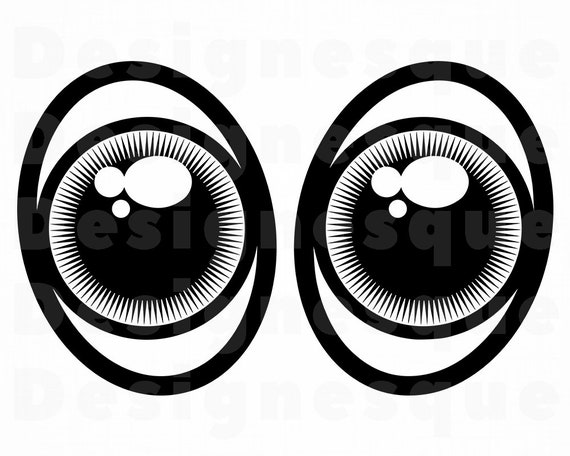 Eyes Svg Sad Eyes Cartoon Eyes Eyes Clipart Eyes Files For Etsy