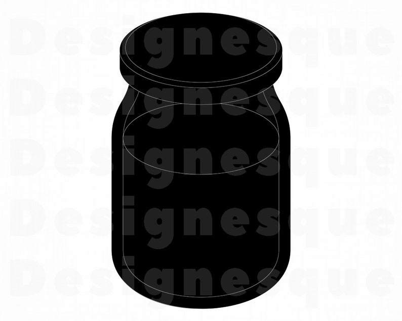 Mason Jar Silhouette SVG, Jar Svg, Mason Jar Clipart, Mason Jar Files for  Cricut, Mason Jar Cut Files For Silhouette, Dxf, Png, Eps, Vector