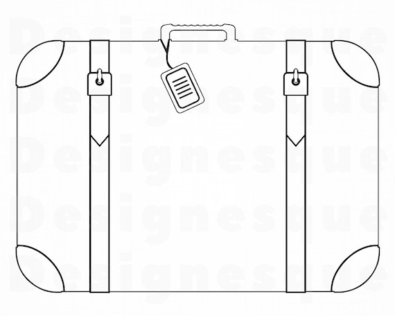 Suitcase Outline 4 SVG, Luggage Svg, Suitcase Clipart, Suitcase Files for  Cricut, Suitcase Cut Files For Silhouette, Dxf, Png, Eps, Vector