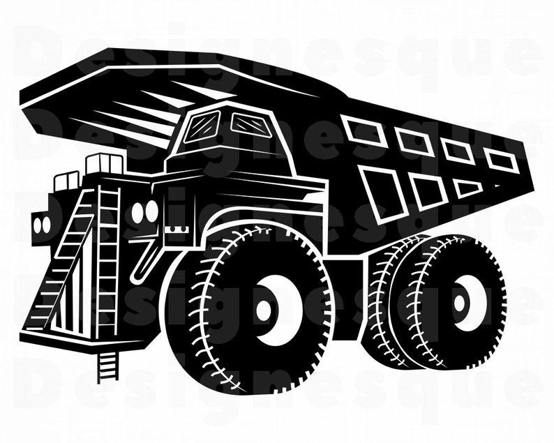Haul Truck 3 Svg Heavy Equipment Haul Truck Clipart Haul Etsy
