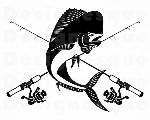 Mahi Mahi Fish Charm Pendant Rod Reel Sport Men Ladies Jewelry