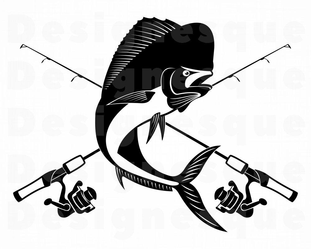 Download Mahi Mahi Fishing 2 Svg Fishing Logo Svg Fish Svg Fishing Etsy