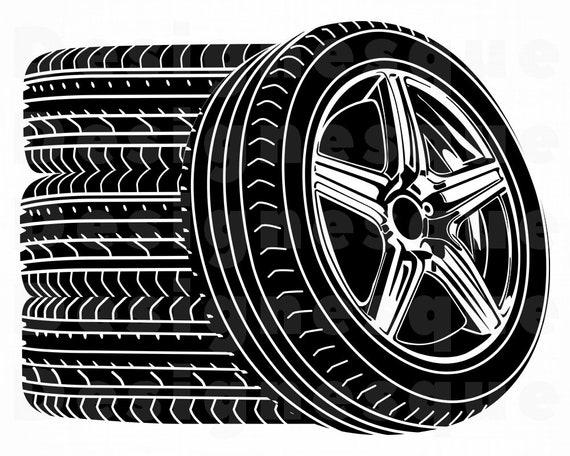 Wheel Logo Svg Wheels Svg Tire Svg Body Shop Svg Car Wheel Etsy