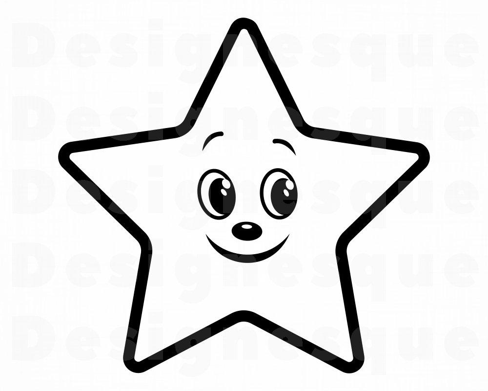 Cute Star SVG Cute Star Clipart Cute Star Files for Cricut ...