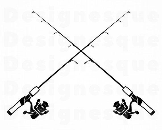 Download Fishing Rod Logo Svg Fishing Rod Svg Fishing Svg Fishing Etsy