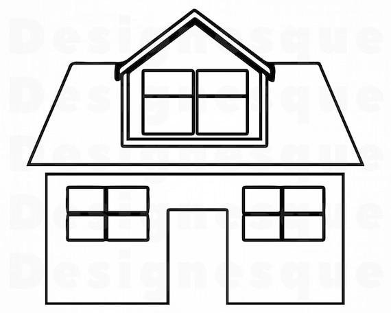 House Outline 2 Svg House Svg Home Svg Real Estate Svg Etsy