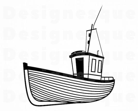 Fishing Boat Svg Fisherman Svg Fishing Boat Clipart Fishing Etsy