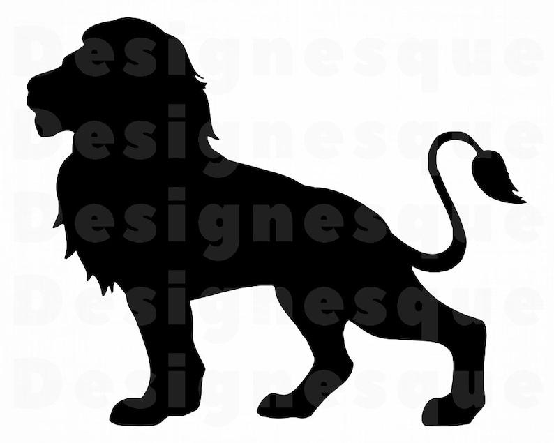 Download Lion Silhouette 3 SVG Lion Svg Lion Clipart Lion Files for ...