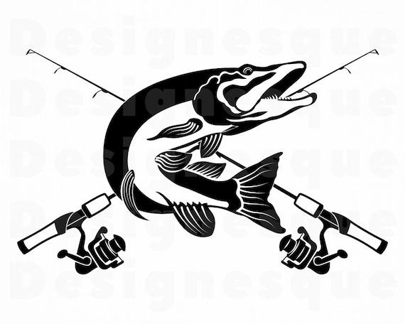 Download Northern Pike Fishing Svg Fishing Logo Svg Fish Svg Fishing Etsy