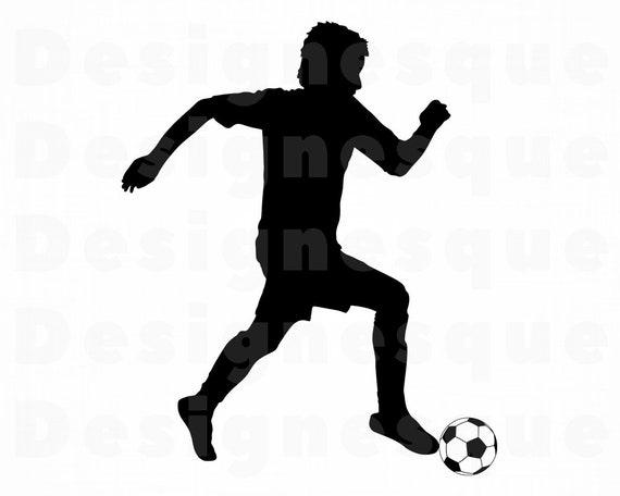 Fussball Spieler 2 Svg Fussball Svg Fussball Spieler Clipart Fussball Dateien Fur Cricut Fussball Schneiden Dateien Fur Silhouette Fussball Dxf Png