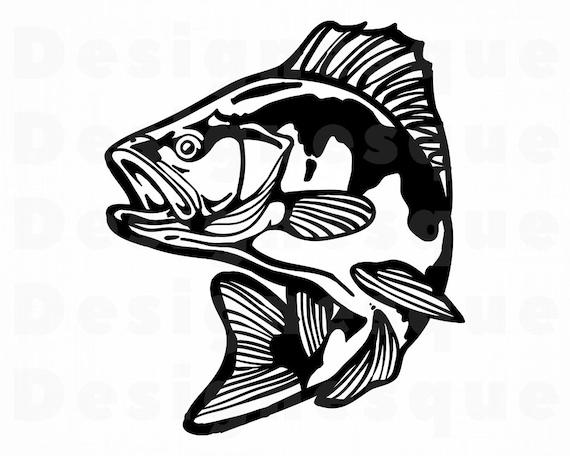 Download Bass Fish 6 Svg Fishing Svg Fish Svg Fishing Clipart Etsy