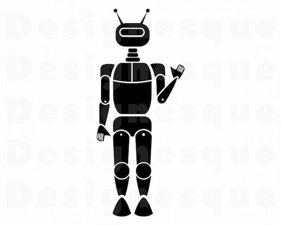 Robot Dxf Files Robot Scrapbooking Robot Clipart Image Robot Digital Cut File Robot Cricut Cut File Robot Cricut Svg