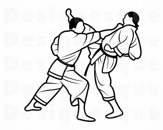 Karate Svg Martial Arts Svg Karate Clipart Karate Files For Etsy