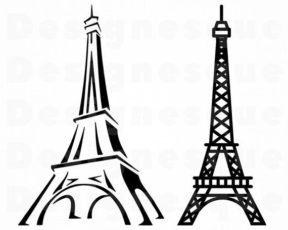 Eiffel Tower Svg Eiffel Tower Clipart Eiffel Tower Files For Etsy