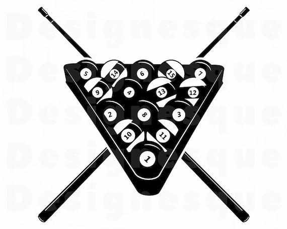 Billiards Svg 3 Snooker Svg Pool Billiards Clipart Etsy