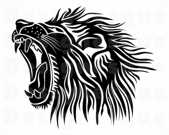 Lion 5 Svg Lion Svg Lion Clipart Lion Files For Cricut Etsy