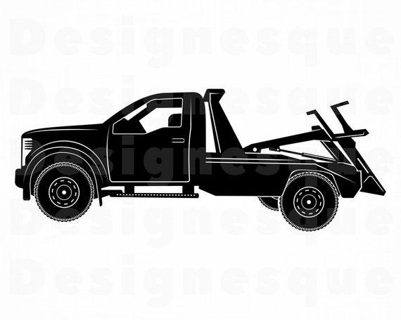 Tow Truck 2 Svg Tow Truck Svg Tow Truck Clipart Tow Truck Etsy