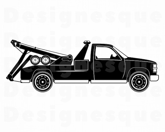 Tow Truck Svg Tow Truck Clipart Tow Truck Files For Cricut Etsy