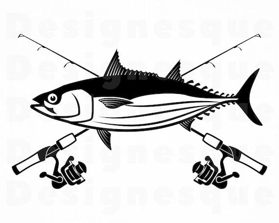 Download Skipjack Tuna Fishing Svg Fishing Logo Svg Fish Svg Fishing Etsy