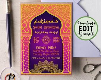 Arabian Invitation Etsy